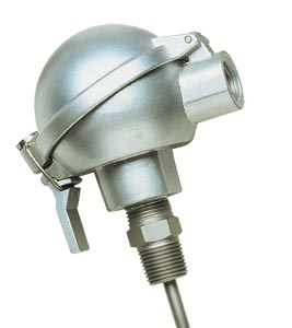 Spring Loaded Platinum RTD Probes With Connection Heads for Use in Thermowells | PR-SL Series