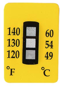 Non-Reversible Temperature Labels, 3 Temperature Ranges | TL-3