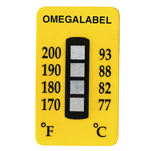 Non-Reversible Temperature Labels, 4 Temperature Ranges | TL-4