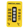 Non-Reversible Temperature Labels, 4 Temperature Ranges