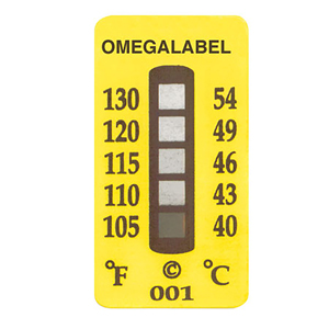 Temperature Labels, 5 Temperature Ranges | TL-5
