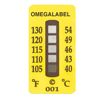 Non-Reversible Temperature Labels, 5 Temperature Ranges