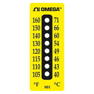Non-Reversible Temperature Labels, 8 Temperature Points | TL-8-Dot
