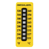 Non-Reversible Temperature Labels, 8 Temperature Ranges