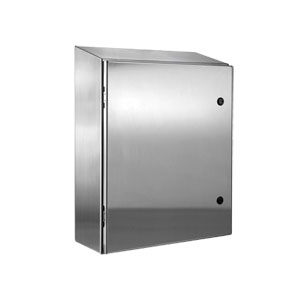 NEMA 4X Washdown Enclosures, Wall Mount 304 Stainless Steel Electrical Enclosure, Waterproof and Weatherproof Outdoor Enclosures for Food and Beverage Applications. | SCE-ELST Series Stainless Steel Enclosures