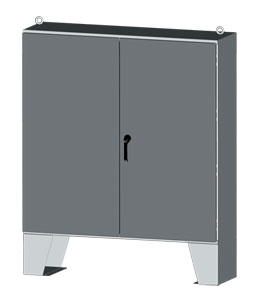 NEMA Type 3R and Type 12 Two-Door Metal Electrical Enclosures and Control Panels, Rack Mount Equipment Enclosures by Saginaw Control | SCE-LP 2-DOOR Series Indoor/Outdoor Electrical Enclosure
