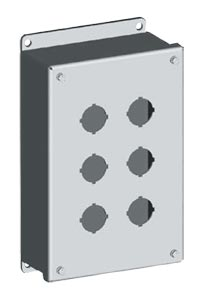NEMA Type 4x Stainless Steel 30mm & 22 mm Pushbutton Enclosures | SCE-PBSS Series Stainless Steel Push Button Enclosures