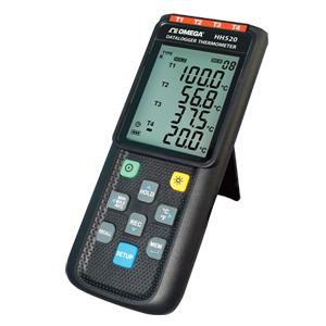 Registrador de dados/Termômetro para termopar com 4 canais | HH520