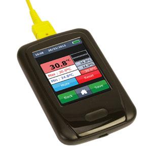 Håndholdt dataloggertermometer med grafikdisplay | OM-EL-ENVIROPAD-TC