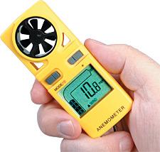 Kapesní měřič rychlosti proudění vzduchu/teploměr | HHF12