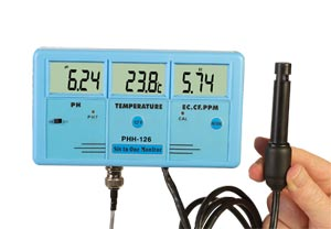 Medidor para Análise de Água Multifuncional 6 em 1Para Medições de pH, Temperatura, Condutividade, STD e/ou ORP | PHH-126