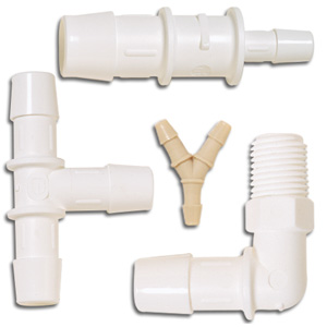 Plastic Fittings for Tubing and Hose (1/16