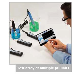 多台pH设备的测试阵列
