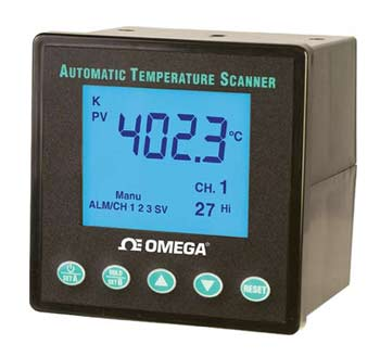 1/4 DIN 10-Channel Automatic Temperature Scanner | DP1001AM