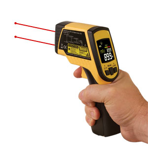 Infrared thermometer with dual-laser targeting | OS499 Series