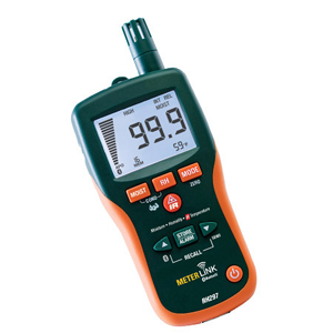Pinless Moisture/Relative Humidity Meter With Infrared Thermometer | RH297 Series