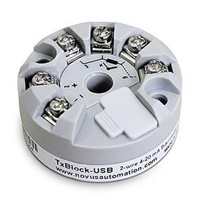 Transmissor de Temperatura USB - Novus TXBLOCK-USB | TXBLOCK-USB