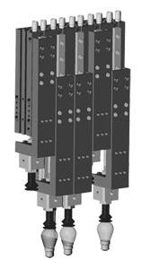 DLM_07M_09M_12M Series Robohand Rail Slides | DLM  Pneumatic Linear Motion Rail Slide