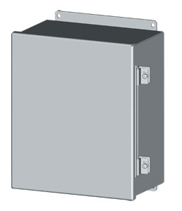 IP 55 Wall-Mount Enclosures in sizes from 100 x 100 to 400 x 350 mm | SCE Series CH Continuous Hinge Enclosures
