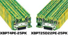 Spring Cage Ground Terminal Blocks | XBPT PE Series