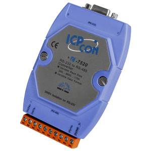 RS-232 to RS-485 Converter, 3kV Isolation  | I-7520-Series