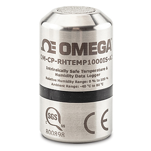 Intrinsically Safe Temperature and Humidity Data Logger  | OM-CP-RHTEMP1000IS-A2