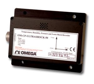 data logger for humidity, temperature, pressure and acceleration | OM-CP-ULTRASHOCK