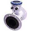 Flanged Magnetic Flow Meter w/Integrated Display, Pulse & Op