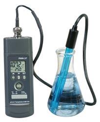 Håndholdt pH-måler med RS232-kommunikation og software | PHH-37
