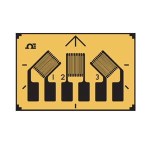 Rectangular 3 Element Strain Gauge | SGD-3/350-RY21