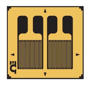 Precision Strain Gauges Dual-Grid for Bending Strains   SGD-2/350-DY11