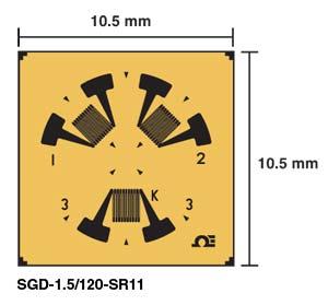Residual Stress Strain Gauges | SGD-1.5/120-SR11