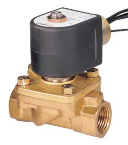 2-Way Hot Water Solenoid Valves Direct Lift, Normally Closed, Brass Valve Body | SV220 Series