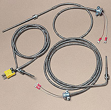 Low Cost Bayonet Style Thermocouples with Stainless Steel Cable | BT Series