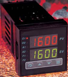 1/16 Din Universal Temperature & Process Controllers with 8 Segment Ramp/Soak Capability | CN8201 Series