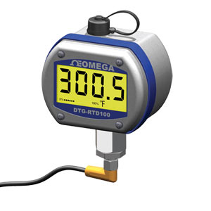 Digital RTD Thermometer with IP65 process mount enclosure. For use with integral or remote sensors | DTG-RTD100 Temperature Indicator