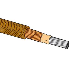 Tilkoblingskabel til varmeaggregat til høje temperaturer isoleret med PFA-glas. 250°C | HTTG-1CU Series