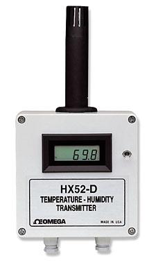 Převodník RH/Teploty s možností rozšíření o LCD displej | HX50 Série