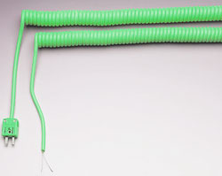 Retractable Sensor Cables for Thermocouples, RTDs and Thermistors   RSC and RSCM Series