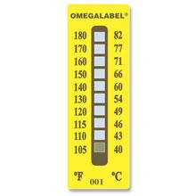 Non-Reversible Temperature Labels, 10 Temperature Ranges | TL-10