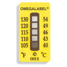 Ikke-reversible OMEGALABEL™ temperaturlabels TL-5 Range-serien | TL-5