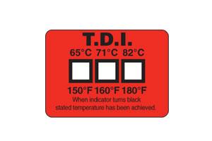 Ikke-reversibel temperaturlabel til vask i opvaskemaskine og andre former for vask & Hygiejniske anvendelsesområder | TL-TI Non-Reversible Temperature Labels