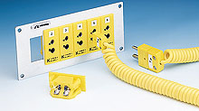 Universalstikdåser til termokoblere til montering på panel | UPJ Series