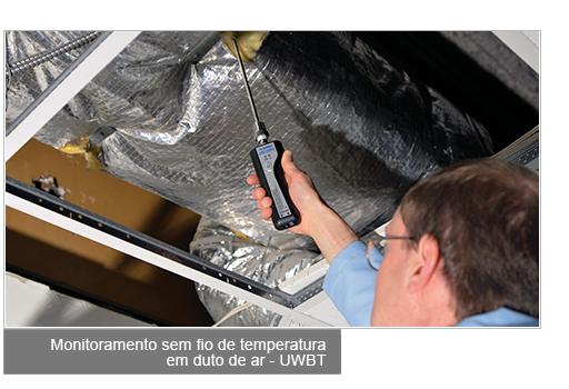 Monitoreo de Temperatura de Ducto de Aire con RTD Inalámbrico - UWBT