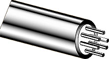 RTD MI Cable OMEGACLAD™ with 2-6 Conductors   316-RTD-4W-MO-250