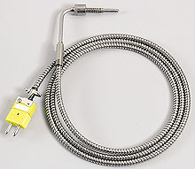 Solid Probe Bayonet Style with Stainless Steel Cable | BTH Series