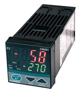 1/16 DIN Ramp/Soak Temperature/Process Controllers | CN6201 Series