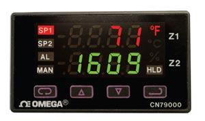 Controladores de Duas Faixas para Montagem 1/32 DIN | Série CN79000