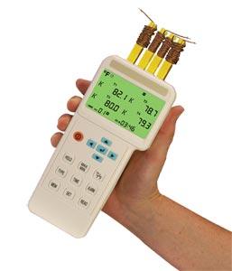 Termômetro e Registrador de Dados de 4 EntradasCom Interface USB | HH1384