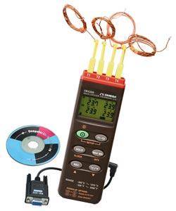 Termômetro Registrador de Dados com Quatro Canais e Interface USB e RS232 | HH309A